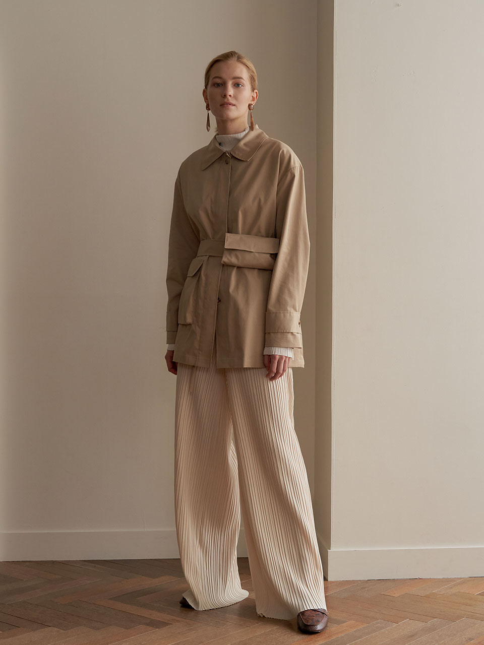 Pocketable trench coat - Beige