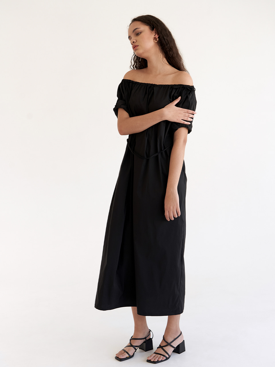 String two way Dress - Black
