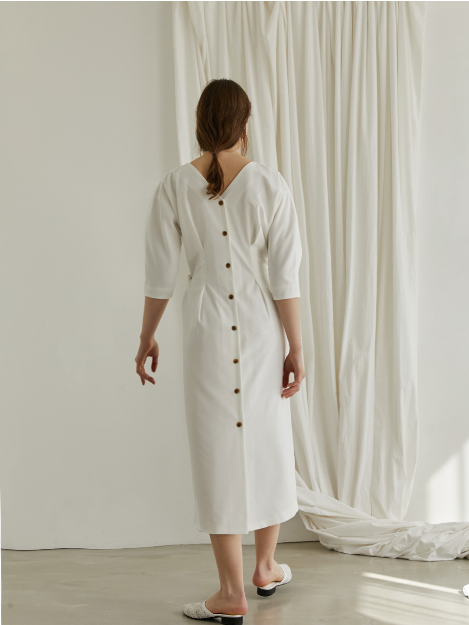 Reversible wrap dress - White